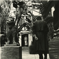 untitled (self-portrait with jean ferro), valentino place, los angeles by helmut newton