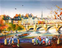 on the bridge of arts by charlotte lachapelle