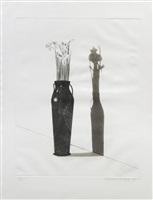 vase with flowers by david hockney