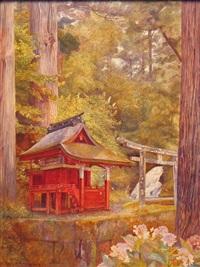 shinto shrine, nikko, japan by henry roderick newman