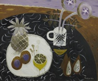 still life with pineapple and lemon by mary fedden