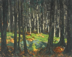 sunlight in the woods by robert henri