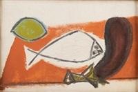 citron, poisson, aubergine by pablo picasso