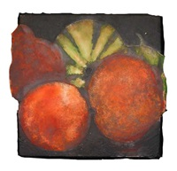 melons and peaches by donald sultan