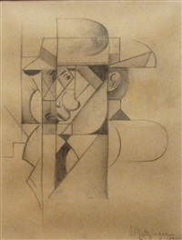 portrait of gleizes by jean metzinger