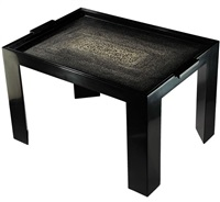 two-handled lacquered tray table by jean dunand