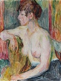 weiblicher halbakt by hans purrmann