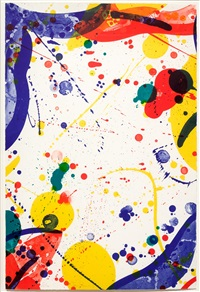 an 8 set - 8, 1966, from the pasadena box by sam francis