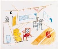 conversation in the studio by david hockney