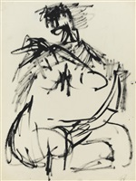 untitled (seated woman) by jack tworkov