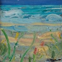beach: blue-green water by john santoro