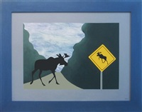 moose crossing by charles pachter