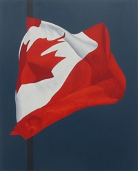 painted flag by charles pachter