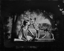 conversation with a coyote by keith carter