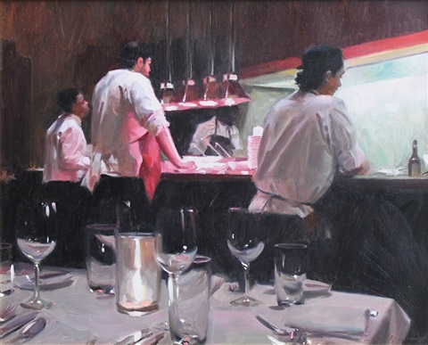 a view of the kitchen by paul oxborough