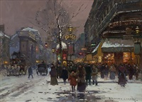 porte st. martin, winter by edouard léon cortès