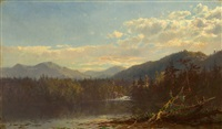a lake in the mountains by james mcdougal hart