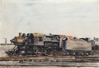 locomotive by reginald marsh