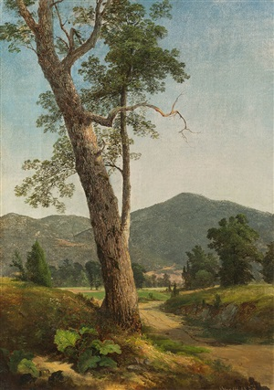 landscape beyond the tree by asher brown durand