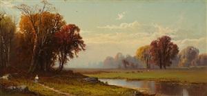 autumn landscape by alfred thompson bricher