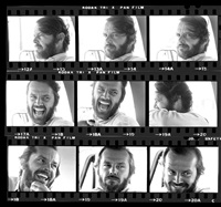 jack nicholson contact sheet, montana by harry benson