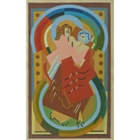 mother and child by albert gleizes