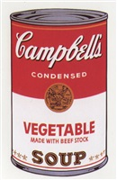 campbell's soup i: vegetable by andy warhol