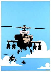 happy choppers by banksy