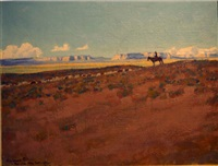 shepherd boy, red lake, arizona by maynard dixon