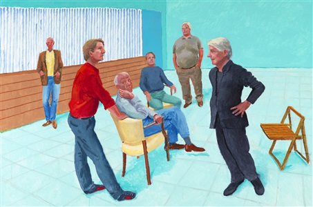 the group xiii 4 9 august by david hockney