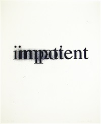 impatient impotent by christopher wool