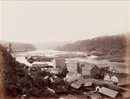 willamette falls, oregon city by carleton e. watkins