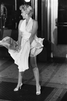 "marilyn monroe, ""seven year itch"" set, new york by garry winogrand"