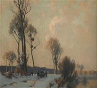 neige dans la vallee de l'ourcq by alexandre jacob