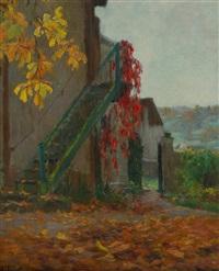 escalier de jardin a l'automne by alexandre jacob