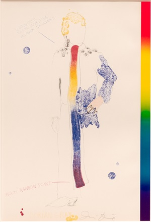 dorian gray with rainbow scarf, from the picture of dorian gray by jim dine