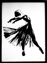 ballet dancer by blek le rat