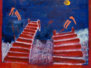red pier divers by katherine bradford