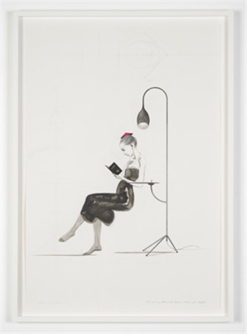 untitled (girl with bonnet and lamp) by charles avery