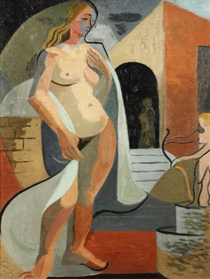 standing female nude by cissie kean