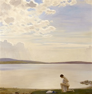peace – dosmare pool by harold knight