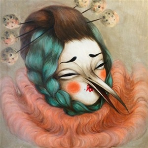 sad birdy clown ii by miss van