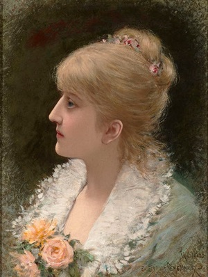 portrait of a young woman by emile eisman-semenowsky