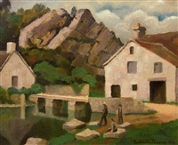 domfront, orne, france by paul emile pissarro