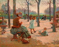 le square (au luxembourg) by claude emile schuffenecker