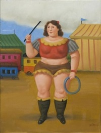 circus girl by fernando botero