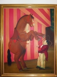 trainer and horse by fernando botero