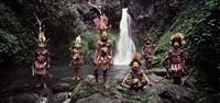 tumbu, hangu, peter, hapiya, kati, hengene & steven huli wigmen, ambua falls, tari valley papua new guinea by jimmy nelson