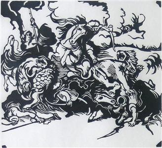 franz marc gemälde - werke auf papier - sklupturen by franz marc
