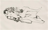 monica nude with matisse by tom wesselmann